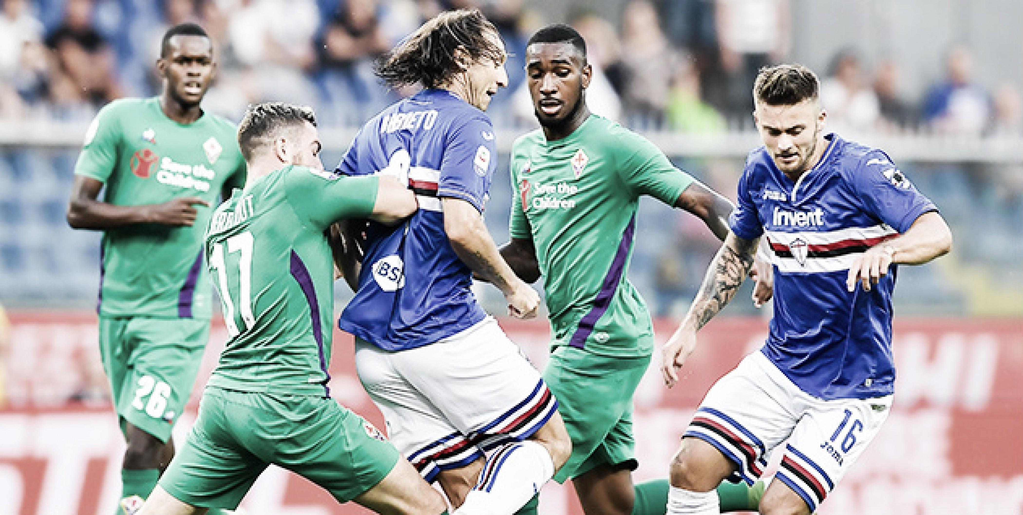 Fiorentina sai na frente, mas Sampdoria busca empate em jogo atrasado da Serie A