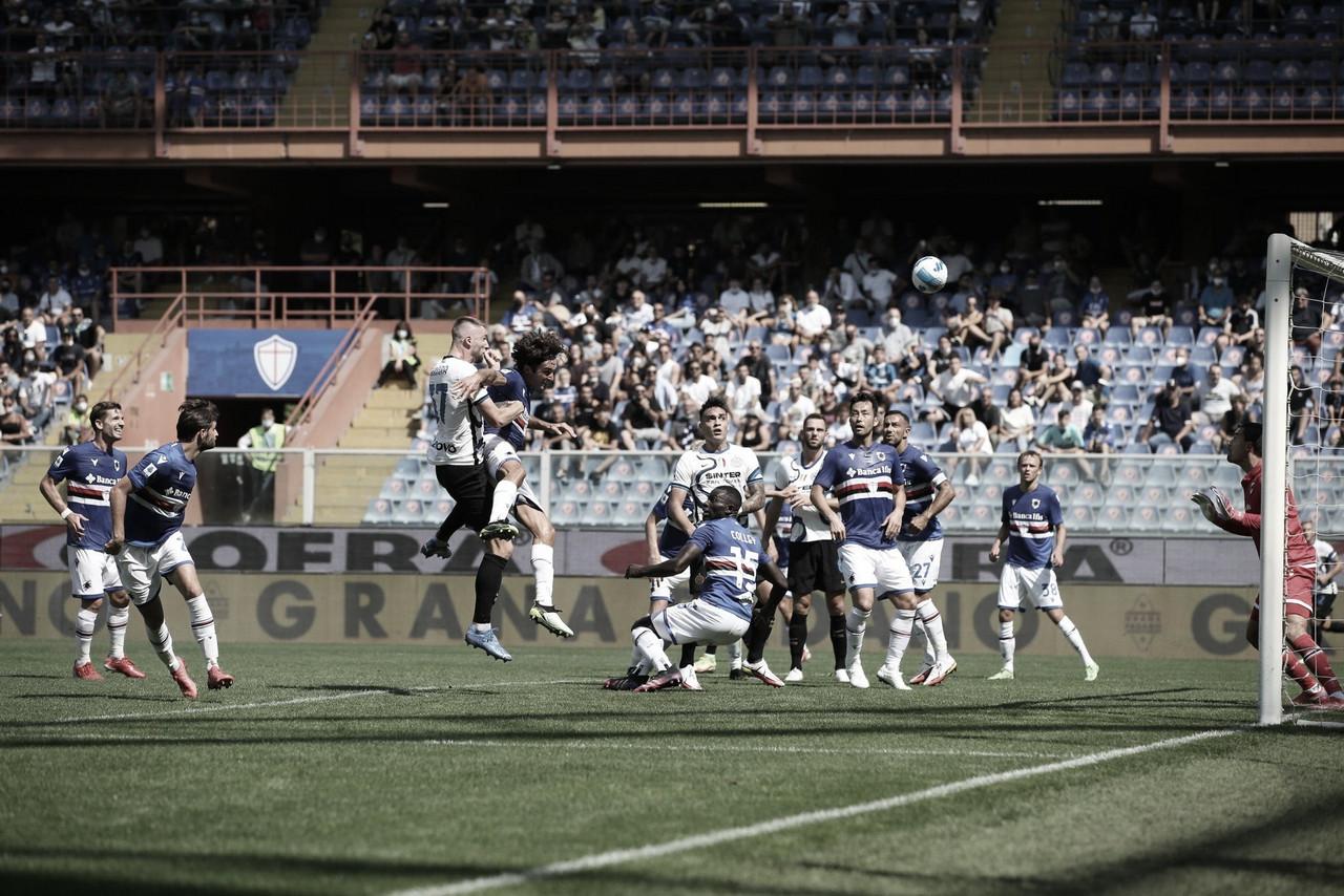Em grande primeiro tempo, Sampdoria busca empate duas vezes diante da Internazionale