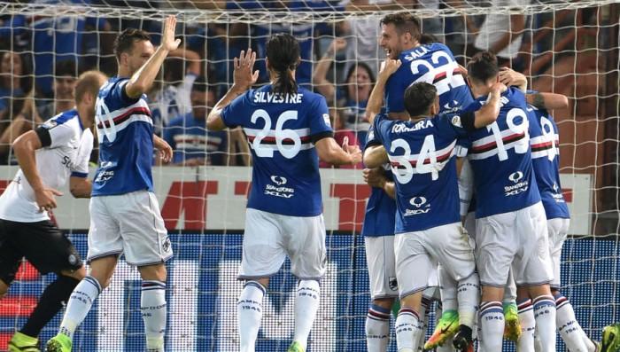 Sampdoria a punteggio pieno, Atalanta battuta 2-1