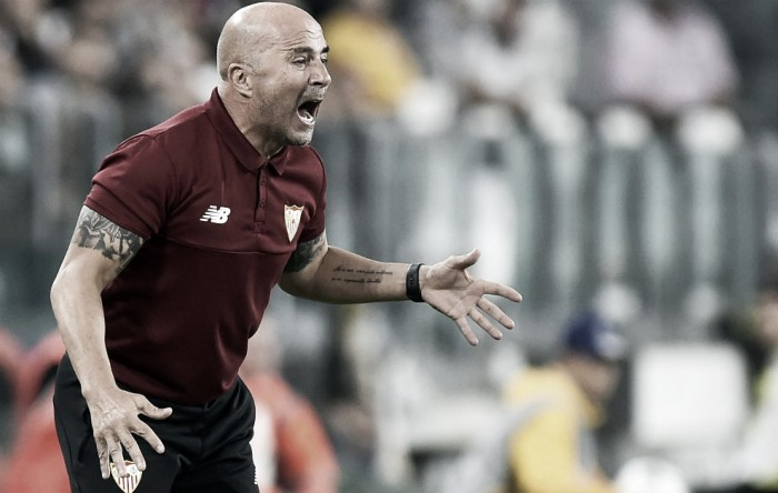 Sampaoli exalta proposta de jogo do Sevilla após empate contra a Juventus