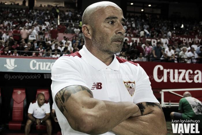 """Sampaoli: """"No se puede perdonar ante un equipo tan grande"""""""