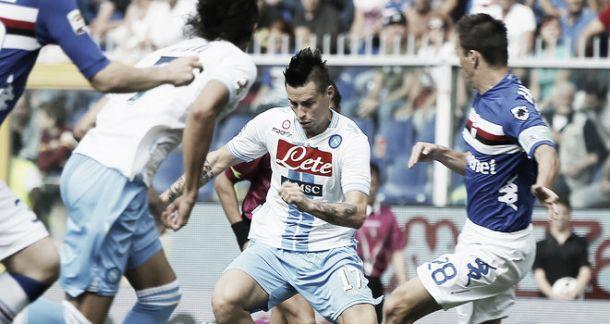 Diretta partita Sampdoria - Napoli, risultati live di Serie A