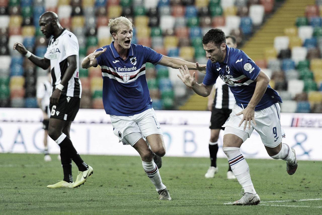 Sampdoria vence Udinese e se afasta da zona de rebaixamento na Serie A