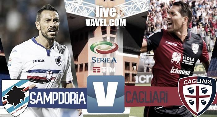 Risultato Finale Sampdoria - Cagliari in Serie A 2016/2017 (1-1) Quagliarella risponde a Isla. Finisce in pareggio
