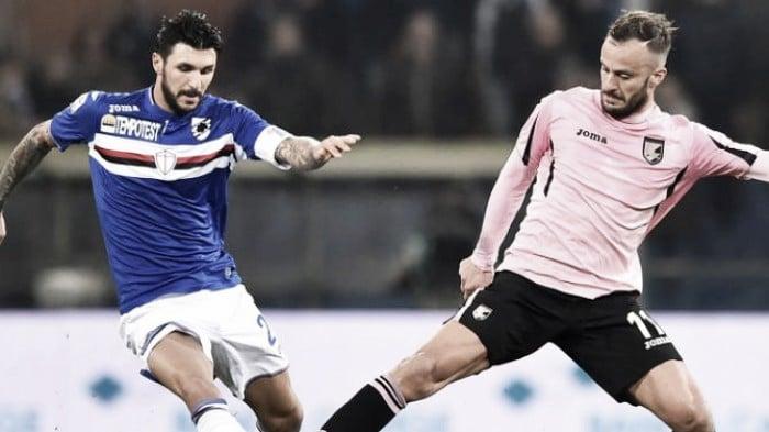 Live Palermo - Sampdoria, partita Serie A 2015/16  (2-0)