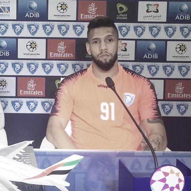 Com mais de 80 jogos pelo Hatta Club/EAU, atacante Samuel espera atingir marca centenária no clube