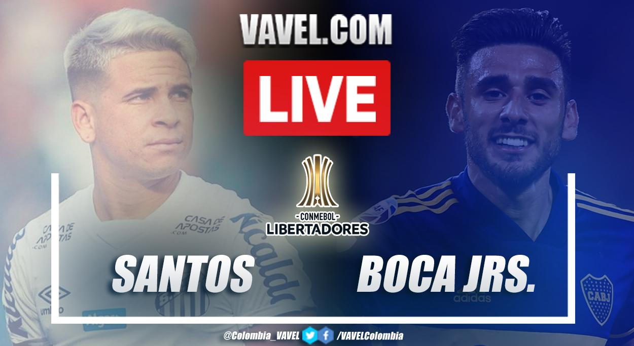 Resumen Santos vs Boca (3-0) en semifinal de la Copa Libertadores