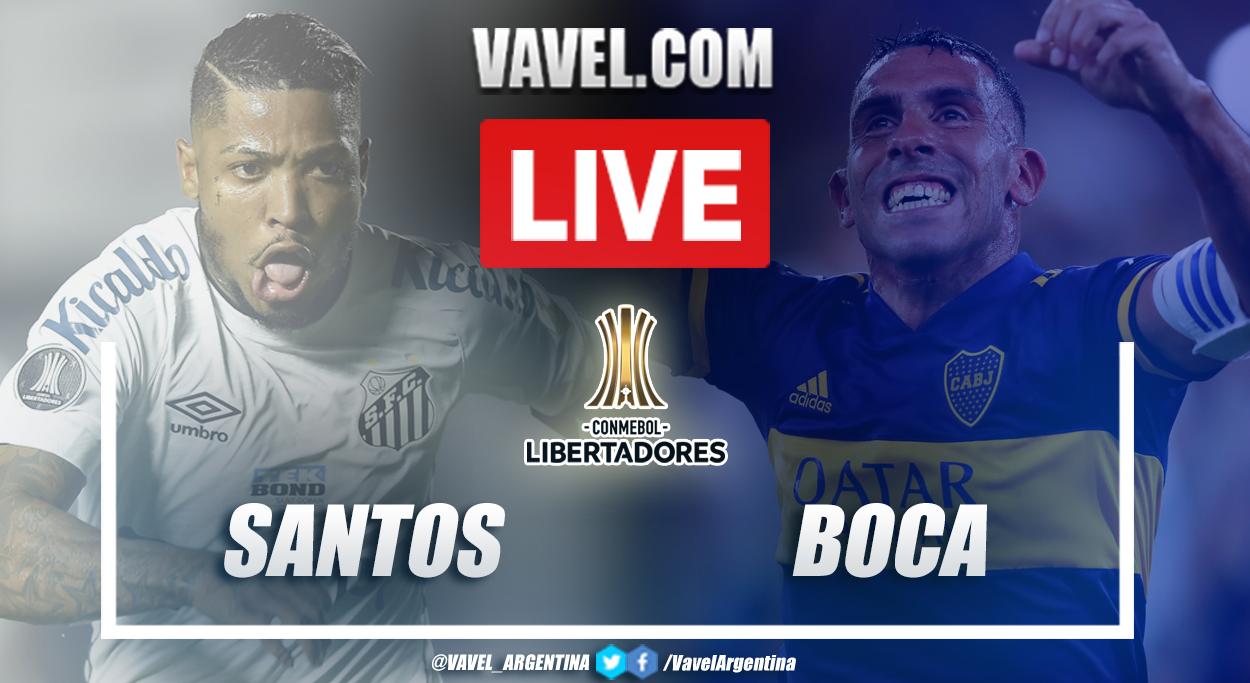 Resumen Santos vs Boca (1-0) en la fecha 4 del grupo C por Copa Libertadores 2021