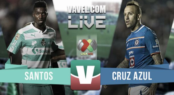 Resultado Santos - Cruz Azul en Liga MX 2015 (1-2)