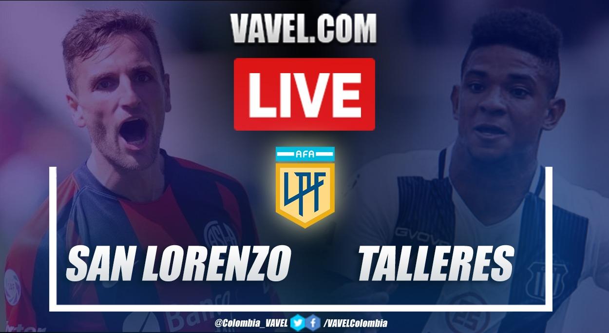Resumen de San Lorenzo vs Talleres (0-2) por la primera fecha de la Zona Campeonato de la Copa Diego Armando Maradona