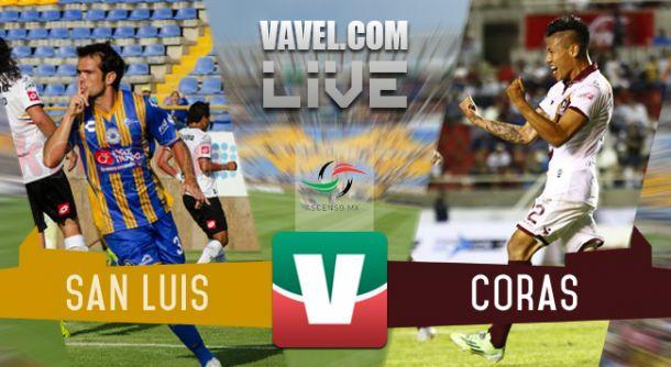 Resultado Atlético San Luis vs Coras Tepic en Ascenso MX 2015 (0-1)