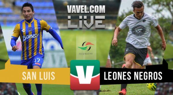 Resultado Atlético San Luis - Leones Negros UDG en el Ascenso MX 2015 (2-2)