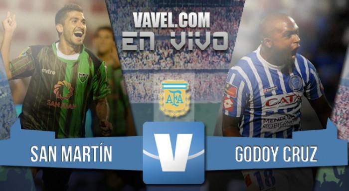 Resumen San Martín de San Juan 2-0 Godoy Cruz en Torneo Transición 2016