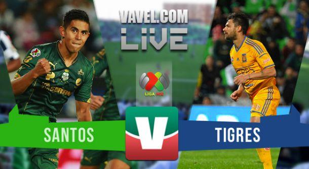 Resultado Santos - Tigres en cuartos de final Liga MX 2015 (1-1)