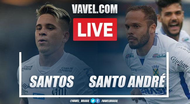 Gols e melhores momentos para Santos 1x1 Santo André pelo Campeonato Paulista 2020