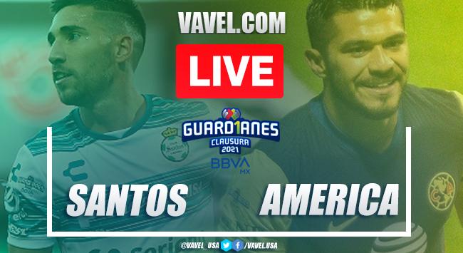 Goals and Highlights Santos 1-1 América, 2021 Liga MX
