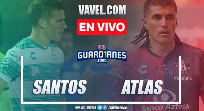 Resumen: Santos 0-0 Atlas en Liga MX 2020