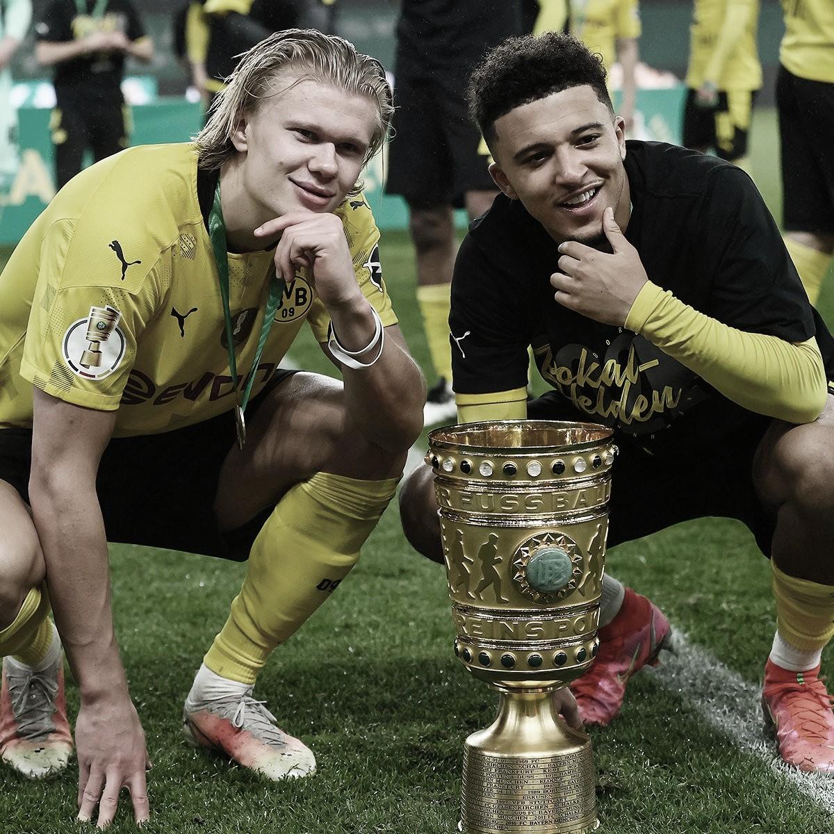 Sancho e Haaland brilham, Borussia Dortmund goleia RB Leipzig e é campeão da DFB-Pokal 2020-21