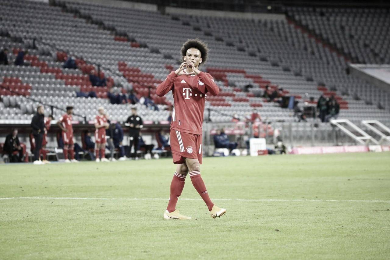 """Após goleada na primeira rodada da Bundesliga, Sané alerta: """"Ainda não estou 100%"""""""