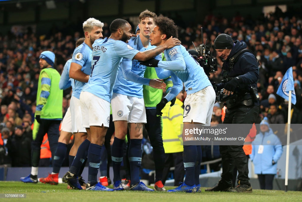 Manchester City 2-1 Liverpool  Sane s strike fires title race wide open as  Liverpool 72834449ee39