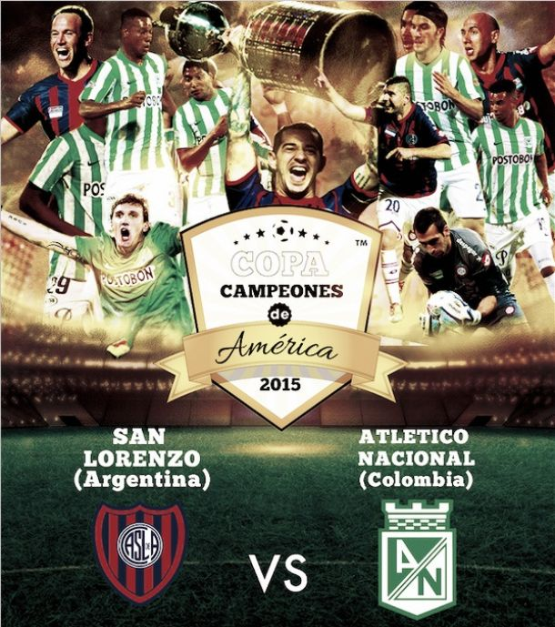 Resultado San Lorenzo - Atlético Nacional por Copa de Campeones 2015 (2-0)