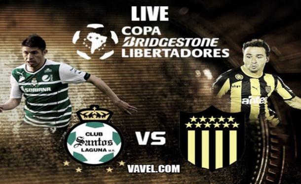 Resultado Santos Laguna - Peñarol Copa Libertadores 2014 (4-1)