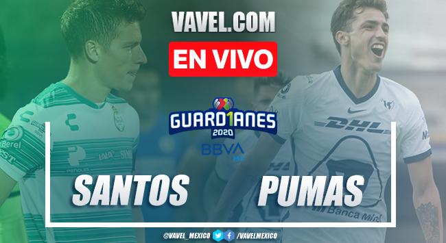 Goles y resumen: Santos 1-2 Pumas en Liga MX Guard1anes 2020
