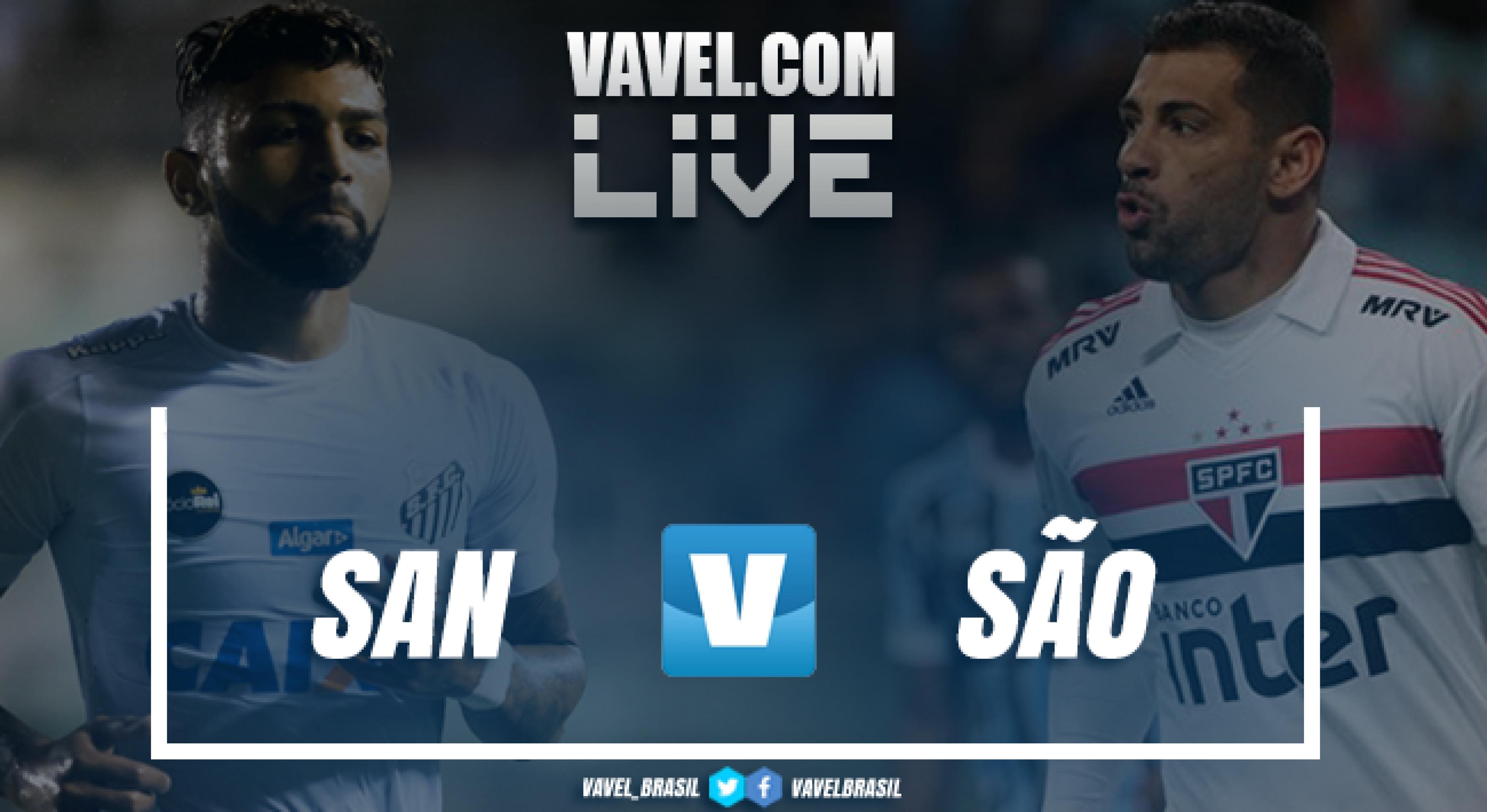 Santos x São Paulo AO VIVO hoje (0-0)