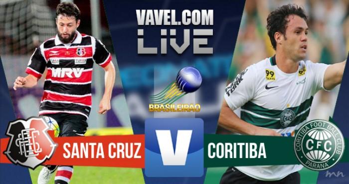 Resultado Santa Cruz x Coritiba na Série A do Campeonato Brasileiro (0-1)