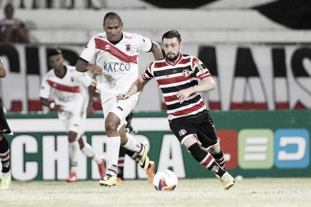 Anderson Aquino marca duas vezes e Santa Cruz goleia Paraná na Série B