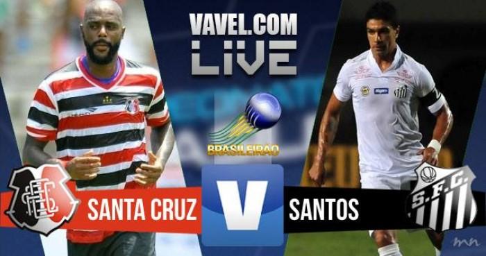 Resultado Santa Cruz x Santos na Série A do Campeonato Brasileiro (0-2)