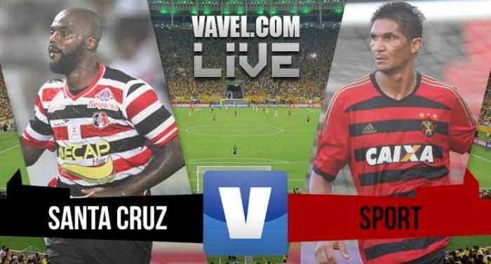 Resultado Santa Cruz x Sport no Campeonato Pernambucano (1-0)