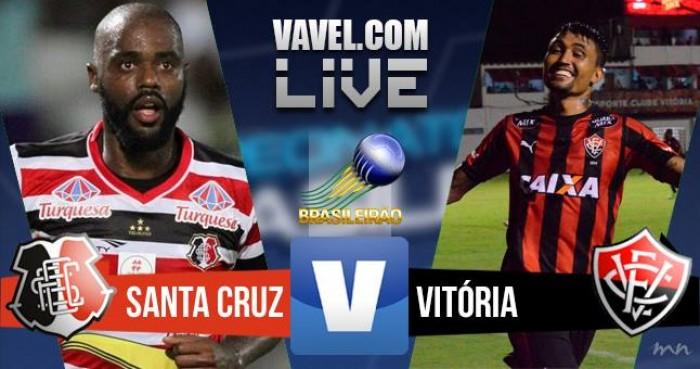 Resultado Santa Cruz x Vitória na Série A do Campeonato Brasileiro 2016 (4-1)