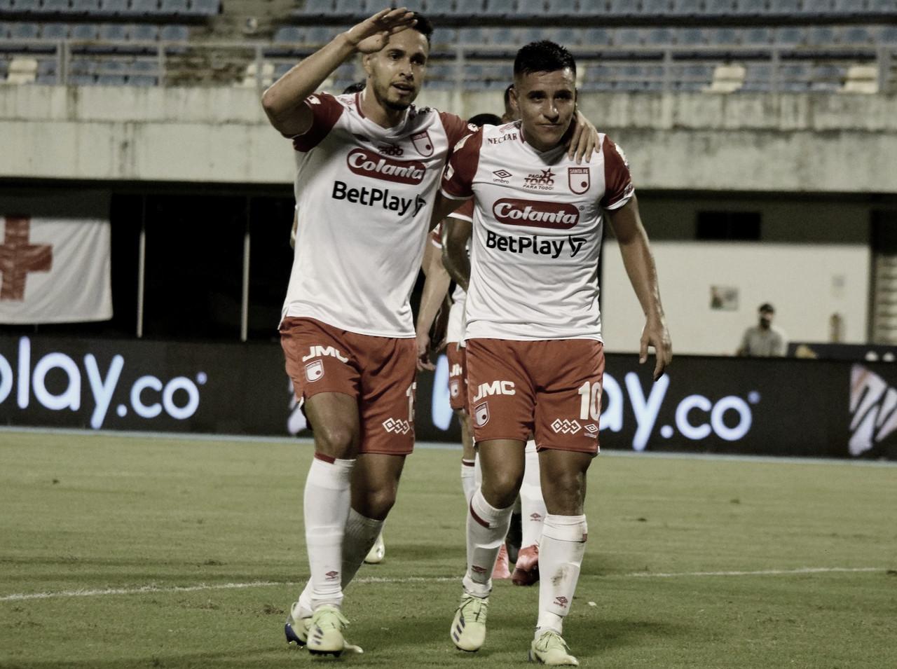 En 'Barranca', Santa Fe ganó, goleó y puso un pie en los play-offs de la Liga 2021-I
