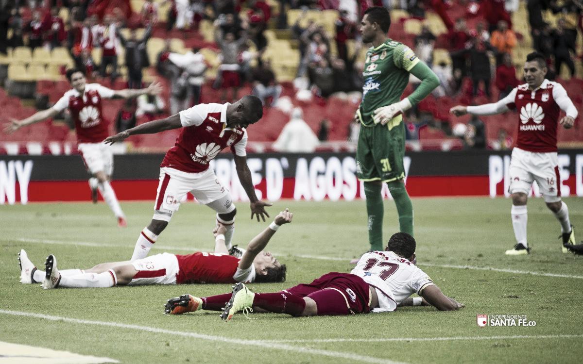 Santa Fe venció al Deportes Tolima y se ilusiona con la clasificación