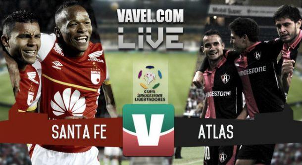 Resultado Santa Fe - Atlas en la Copa Libertadores 2015 (3-1)