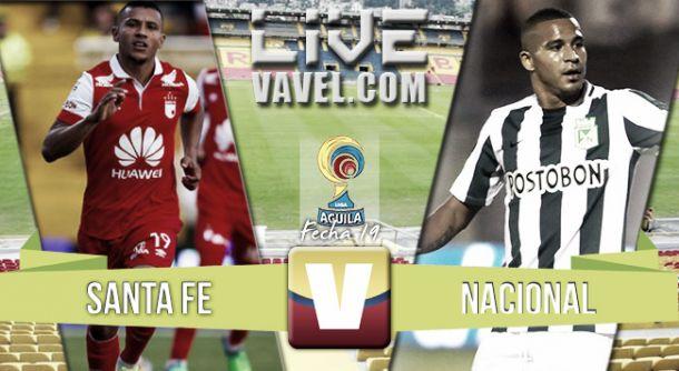 Resultado Santa Fe vs Atlético Nacionalen Liga Águila 2015 (1-0)