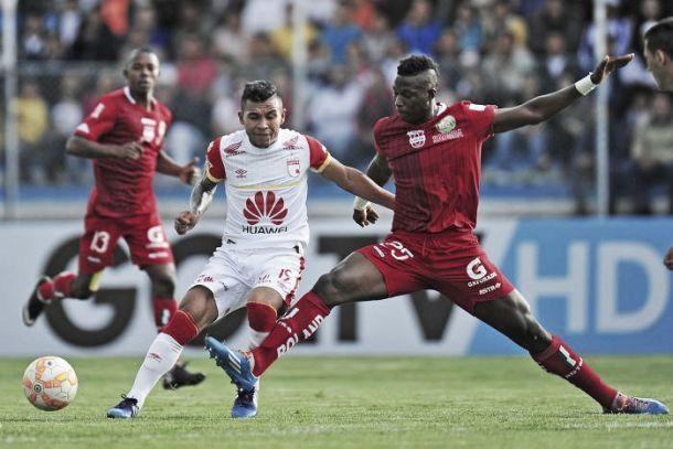 Resultado Santa Fe - Liga de Loja en la primera fase de la Copa Sudamericana (3-0)