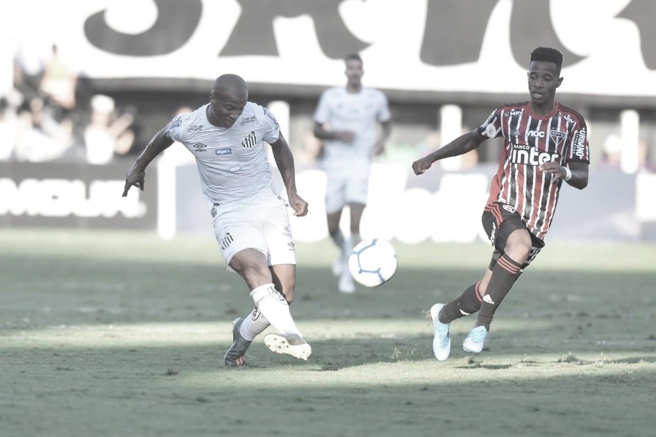 Na Vila, Santos e São Paulo ficam empatados em jogo movimentado