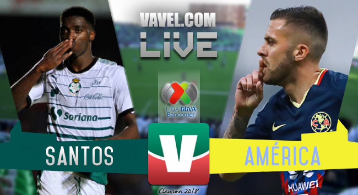 Goles del partido Santos Laguna vs América en Liga MX 2018 (4-1)