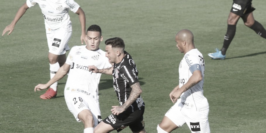 Pouco inspirados, Santos e Corinthians empatam no clássico na Vila Belmiro