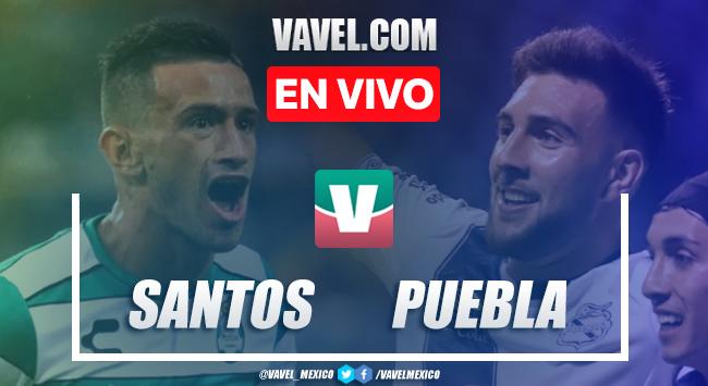 Resumen y video goles Santos 4-1 Puebla en Apertura 2019