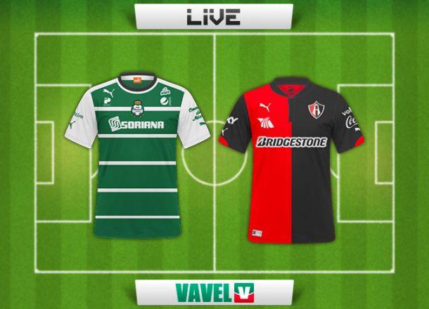 Resultado Santos - Atlas en Liga MX 2015 (0-1)