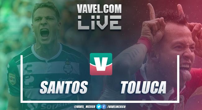 Resumen y goles del partido Santos 4-0 Toluca de la Liga MX 2019