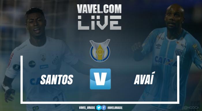 Resultado Santos x Avaí pelo Campeonato Brasileiro 2017 (1-1)