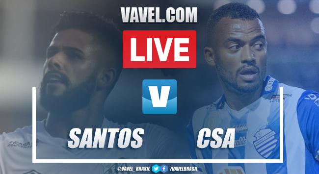 Gols e melhores momentos para Santos 2x0 CSA pelo Brasileirão