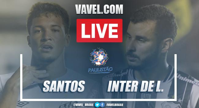 Gols e melhores momentos para Santos 2 x 1 Inter de Limeira pelo Campeonato Paulista