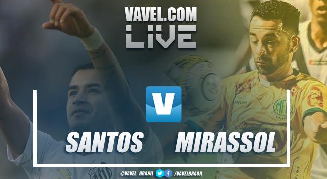 Resultado e gol para Santos 1x0 Mirassol