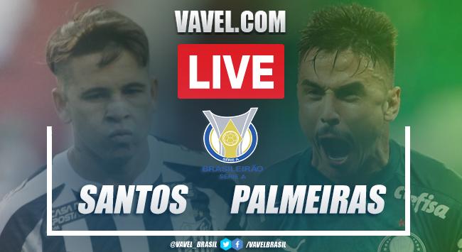 Gols e melhores momentos para Santos 2x2 Palmeiras pelo Campeonato Brasileiro