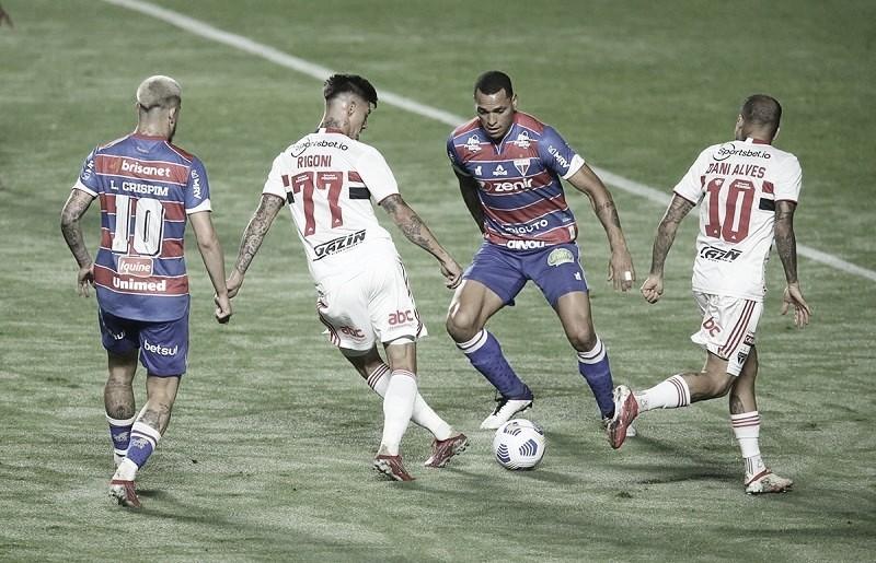 Persistente, Fortaleza arranca empate nos acréscimos contra São Paulo na Copa do Brasil